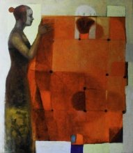 """Carries on the story"" • 2008 • oil on canvas • 120 x 85 cm • (private collection)"