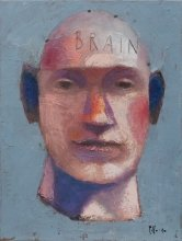 """""""Thinker"""" • 2010 • oil on canvas • 40 x 30 cm • (private collection)"""