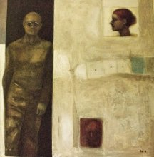 """""""Hide-and-seek and the game"""" • 2008 • oil on canvas • 63 x 62 cm • (private collection)"""