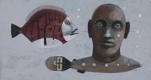 """""""Subaquals"""" • 2010 • acrylic, carton"""
