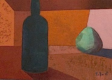 Bottle and fruit