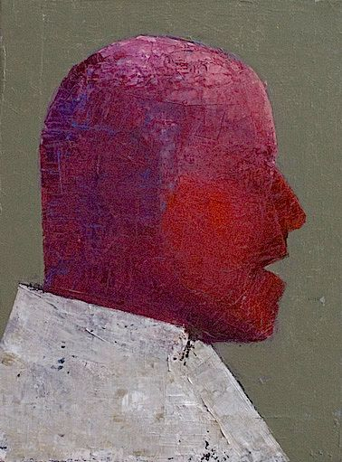 Man with red face