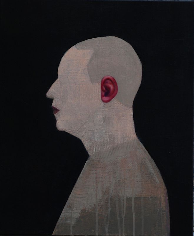 Man with red ear