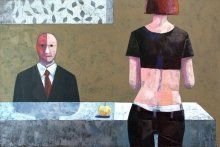 """Adam and Eva"" • 2012 • oil on canvas • 100 x 150 cm • (private collection)"
