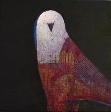 """Bird"" • 2017 • oil on canvas • 45 x 45 cm"