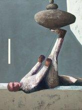 """""""Exerciser"""" • 2014 • oil on canvas • 160 x 120 cm"""
