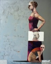 """""""Collateral and close"""" • 2008 – 2012 • acrylic, oil on canvas • 150 x 120 cm • (private collection)"""