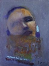 """""""Listens"""" • 2009 • oil on canvas • 40 x 30 cm • (private collection)"""