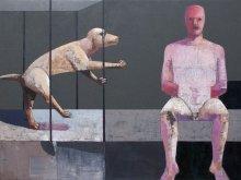 """""""Linguistic problem"""" • 2014 • oil on canvas • 120 x 160 cm"""