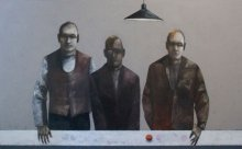 """""""Game"""" • 2010 • oil on canvas • 120 x 195 cm • (private collection)"""