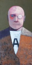 """Man in A-shirt"" • 2012 • oil on canvas • 60 x 30 cm • (private collection)"