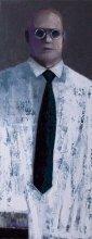 """Black tie"" • 2011 • oil on canvas • 100 x 40 cm"