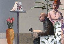 """""""Four eyes"""" • 2012 • oil on canvas • 135 x 195,5 cm"""