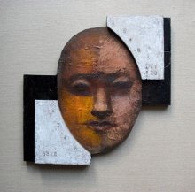 """""""Numerologist"""" • 2011 • oil on wood • 34 x 34 cm • (private collection)"""
