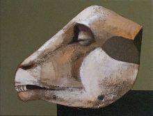 """""""The Head"""" • 2009 • oil on canvas • 30 x 20 cm"""