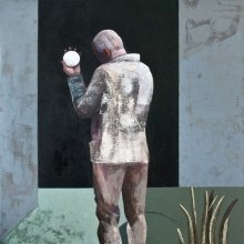 """""""Looking glass"""" • 2013 • oil on canvas • 160 x 160 cm • (private collection)"""