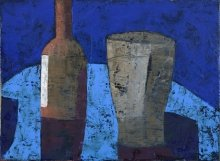 """Bottle and vase"" • 2013 • oil on canvas • 30 x 40 cm • (private collection)"