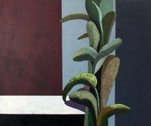 """Sein ja taim"" • 2015 • õli, lõuend • 100 x 120 cm • (erakogus)"