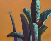 """""""Plants and ocher"""" • 2014 • oil on canvas • 80 x 100 cm • (private collection)"""