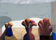 """""""Plants on the roof"""" • 2013 • oil on canvas • 80 x 100 cm • (private collection)"""