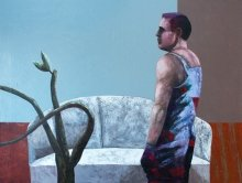 """""""Looks"""" • 2012 • acrylic, oil on canvas • 120 x 160 cm"""