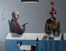 """External languages"" • 2010 – 2011 • oil on canvas • 145 x 185 cm • (private collection)"