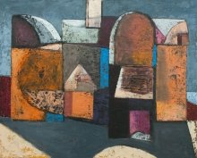 """""""Old building"""" • 2011 • oil on canvas • 65 x 81 cm • (private collection)"""