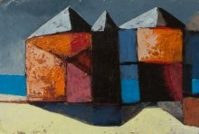 """""""Old terminal"""" • 2010 • oil on canvas • 29 x 43 cm • (private collection)"""