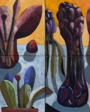 """Fruits"" • 2011 • panel, oil on canvas • 41 x 33 x 4 cm • (private collection)"