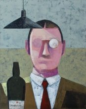 """""""Whiskey lover"""" • 2012 • oil on canvas • 92 x 73 cm • (private collection)"""